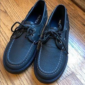 Nautica Black [Size:5] Boat Shoes